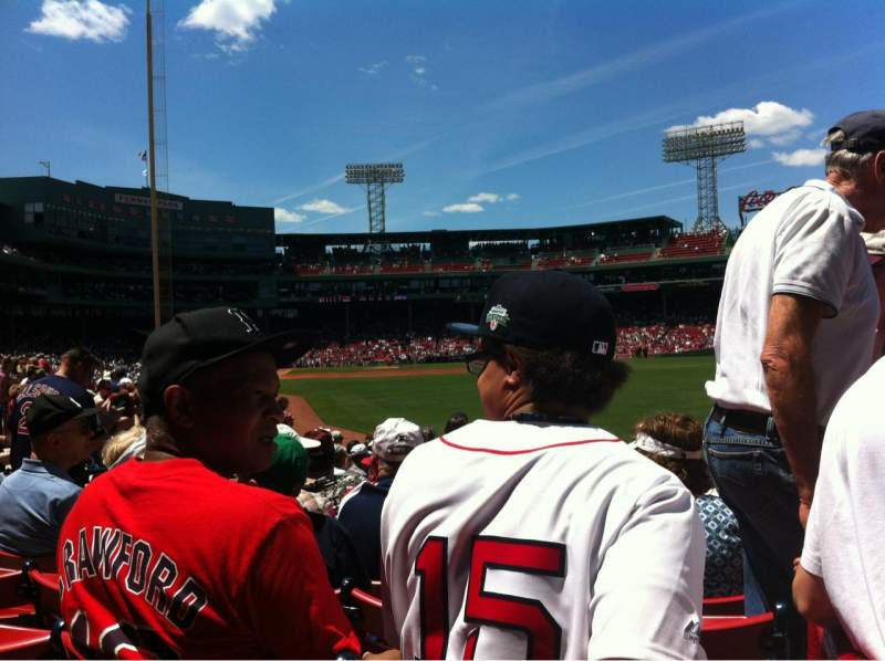 Seating view for Fenway Park Section Right Field box 90 Row Ee Seat 1