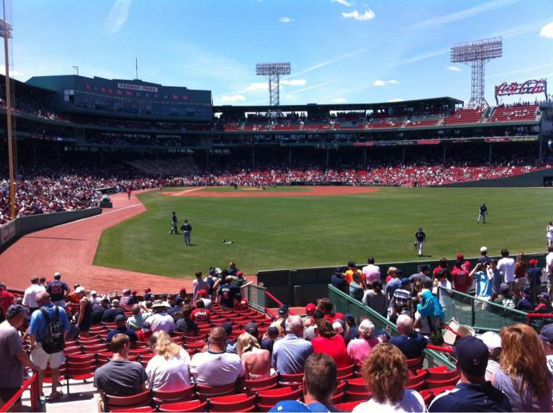 Seating view for Fenway Park Section Right Field box 87 Row Rr Seat 8