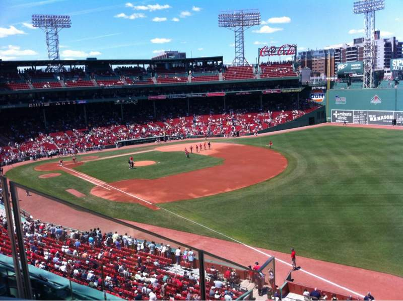 Seating view for Fenway Park Section Right Field Roof Deck Box 23 Row D Seat 8