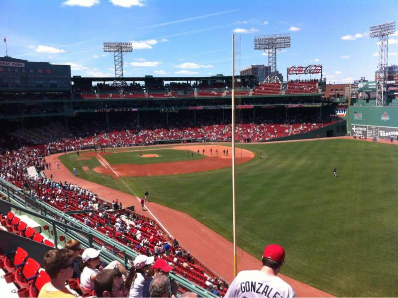 Seating view for Fenway Park Section Right Field Roof Deck Box 39 Row D Seat 8