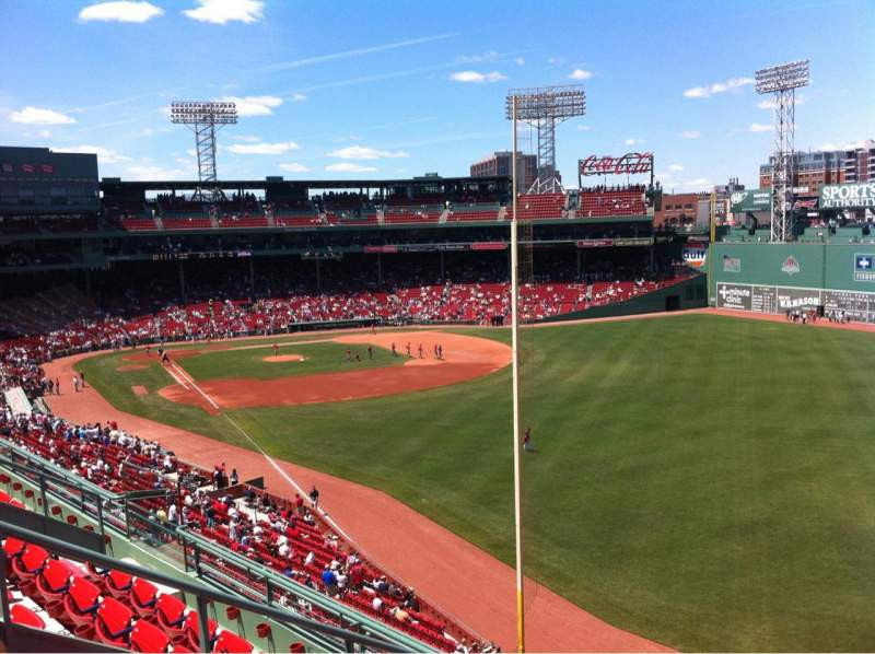 Seating view for Fenway Park Section Right Field Roof Deck Box 37 Row E Seat 1