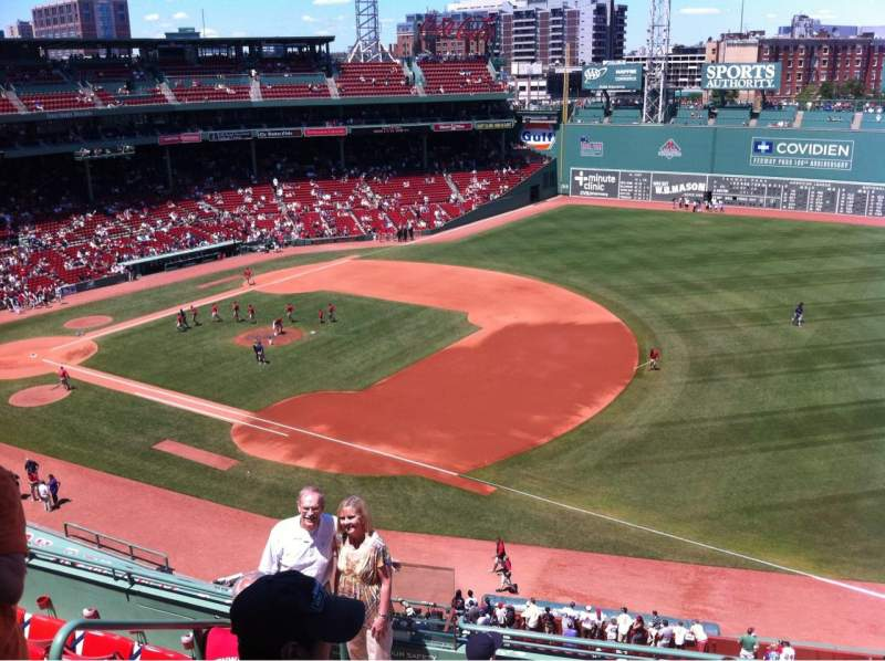 Seating view for Fenway Park Section Pavilion Box 13 Row A Seat 16