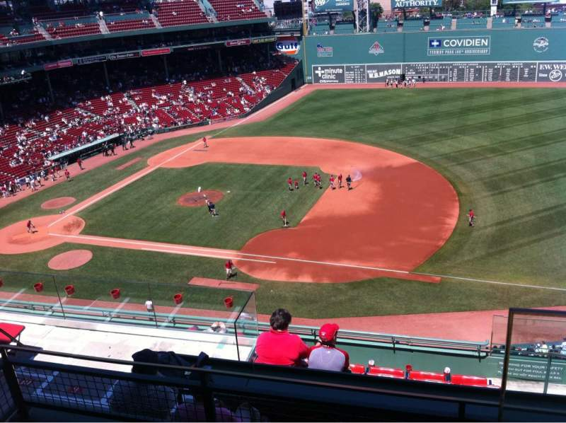 Seating view for Fenway Park Section Pavilion Box 9 Row C Seat 1
