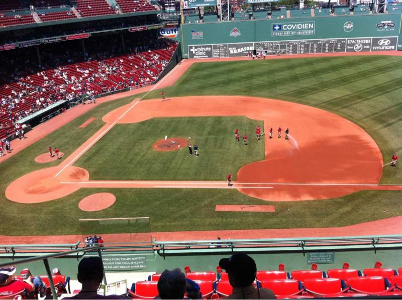 Seating view for Fenway Park Section Pavilion Box 7 Row A Seat 14