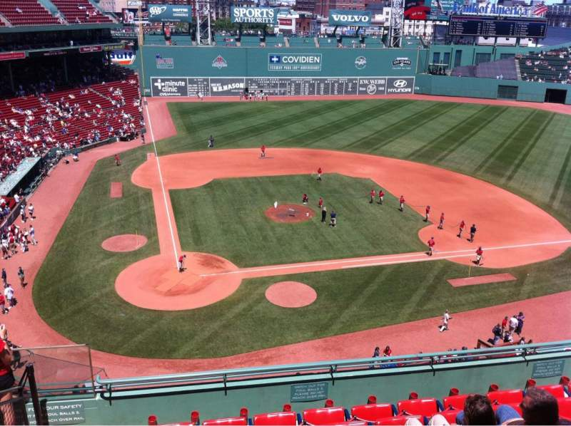 Seating view for Fenway Park Section Pavilion Box 1 Row A Seat 13