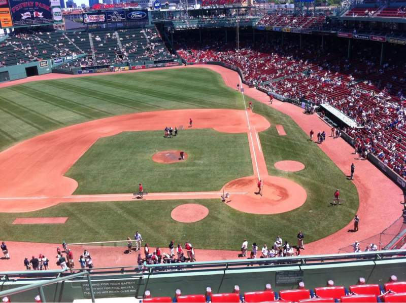 Seating view for Fenway Park Section Pavilion Box 6 Row A Seat 13