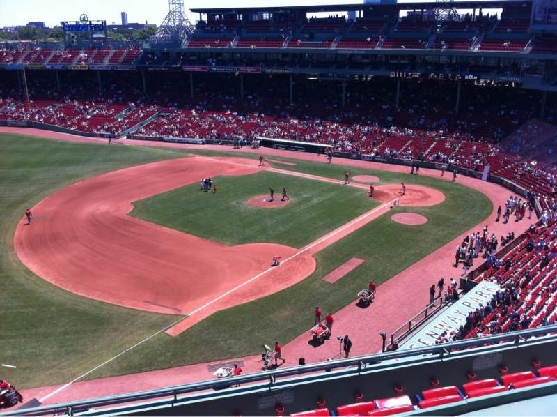 Seating view for Fenway Park Section Pavilion Box 12 Row A Seat 11
