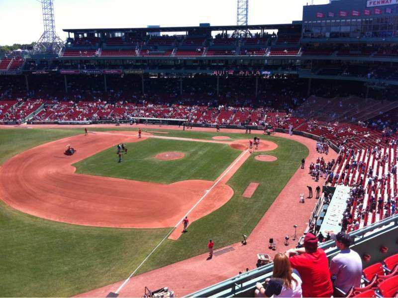 Seating view for Fenway Park Section Pavilion Box 16 Row E Seat 22