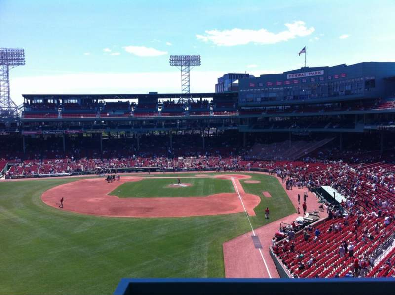 Seating view for Fenway Park Section Green Monster 1