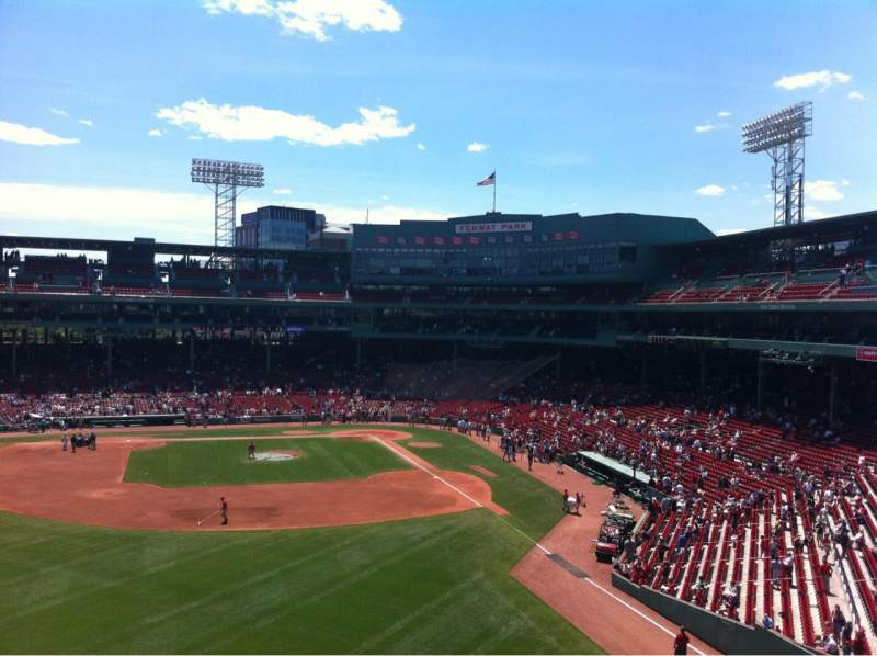 Seating view for Fenway Park Section Green Monster 3