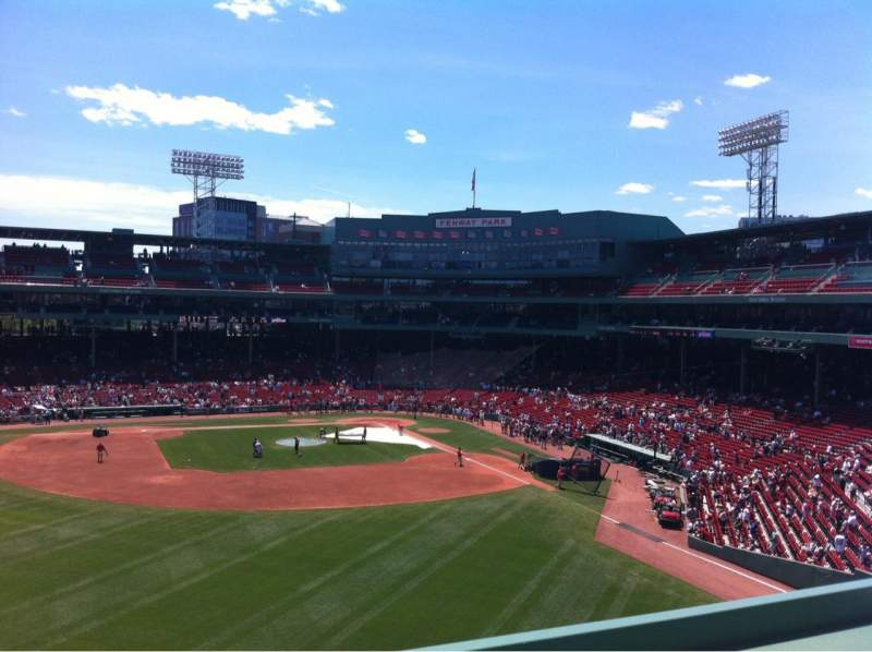 Seating view for Fenway Park Section Green Monster 5