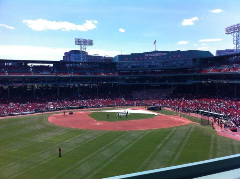 Seating view for Fenway Park Section Green Monster 7