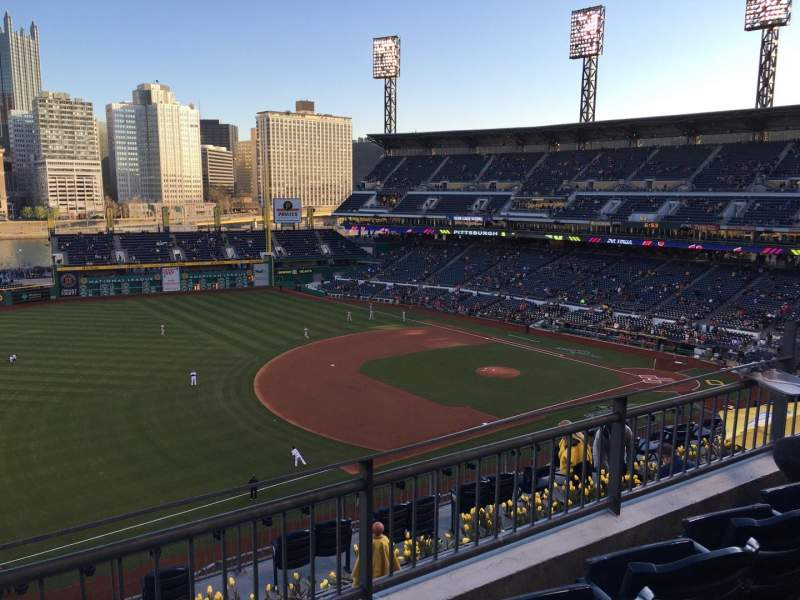Seating view for PNC Park Section 328 Row C Seat 8