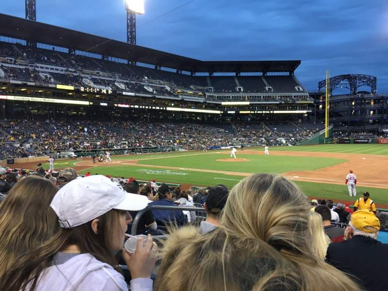 Seating view for PNC Park Section 108 Row H Seat 21