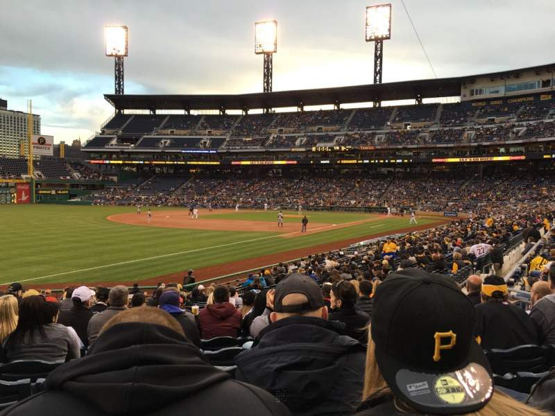 Seating view for PNC Park Section 130 Row J Seat 11