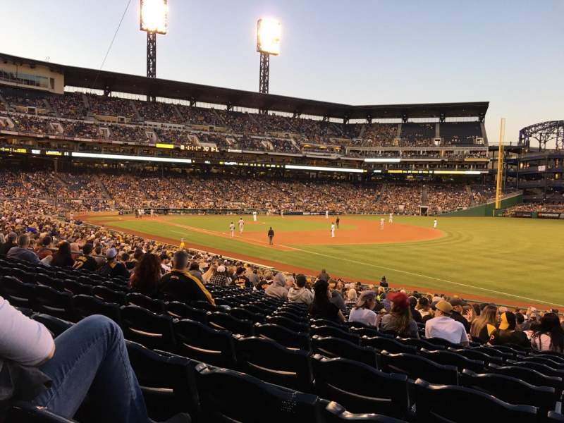Seating view for PNC Park Section 103 Row R Seat 6