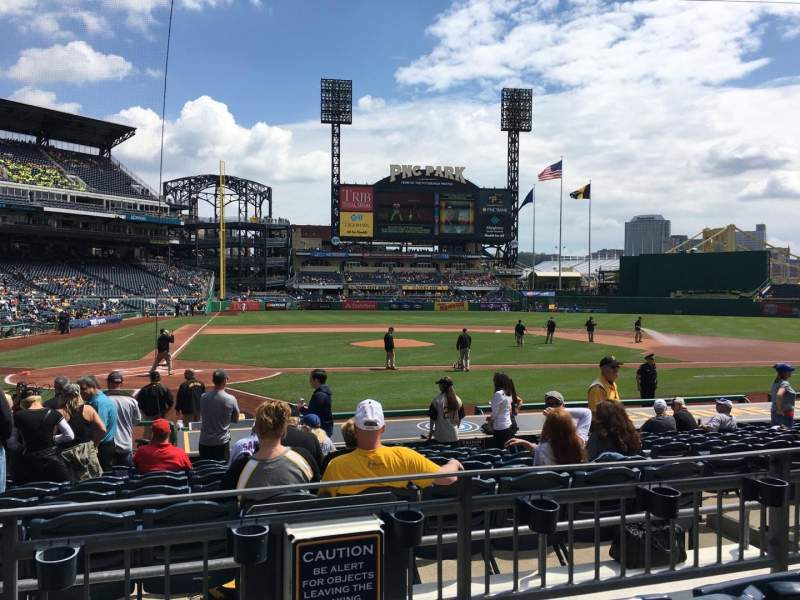 Seating view for PNC Park Section 113 Row C Seat 12