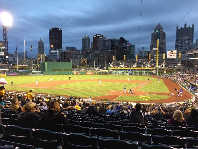 Seating view for PNC Park Section 119 Row U Seat 12