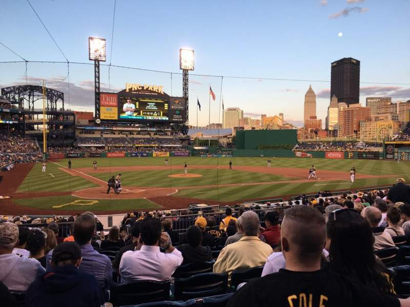 Seating view for PNC Park Section 114 Row K Seat 21