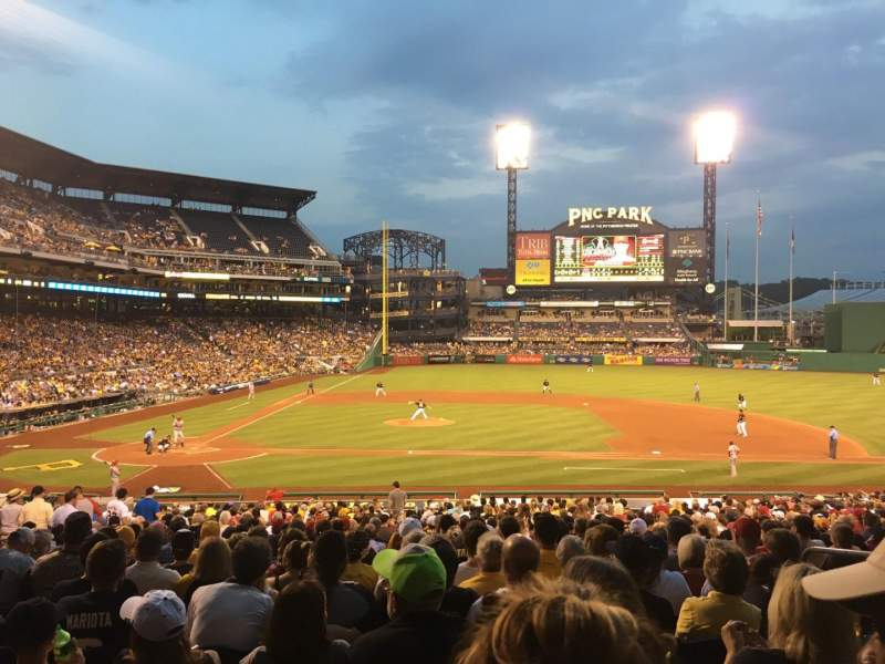 Seating view for PNC Park Section 112 Row X Seat 6