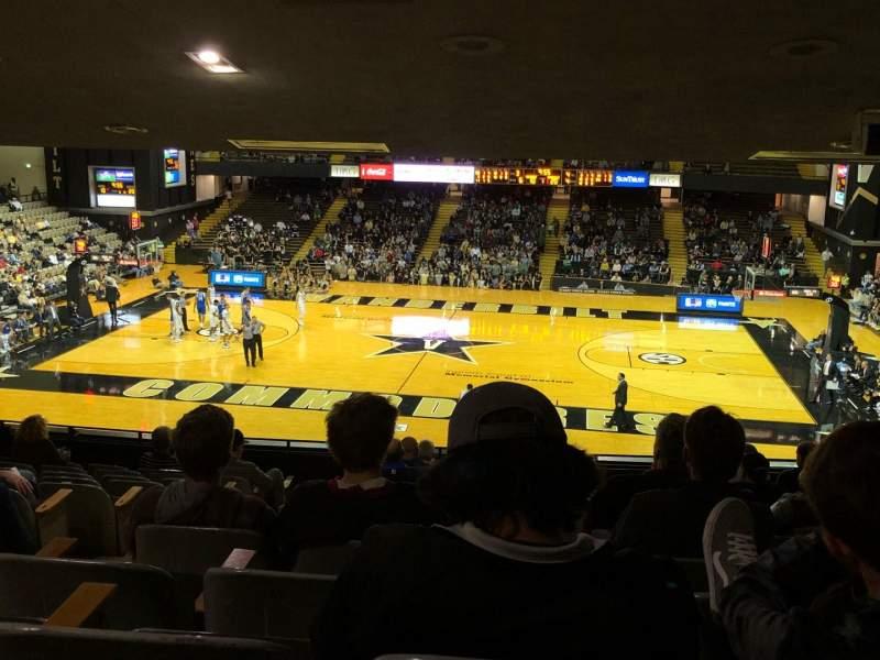 Seating view for Memorial Gymnasium (Vanderbilt) Section 2B Row 12 Seat 12