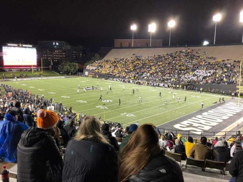 Seating view for Vanderbilt Stadium Section I Row 31 Seat 23