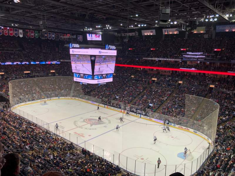 Seating view for Nationwide Arena Section 214 Row C Seat 6