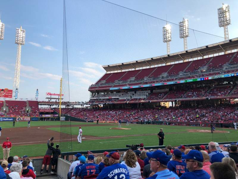 Seating view for Great American Ball Park Section 114 Row O Seat 1