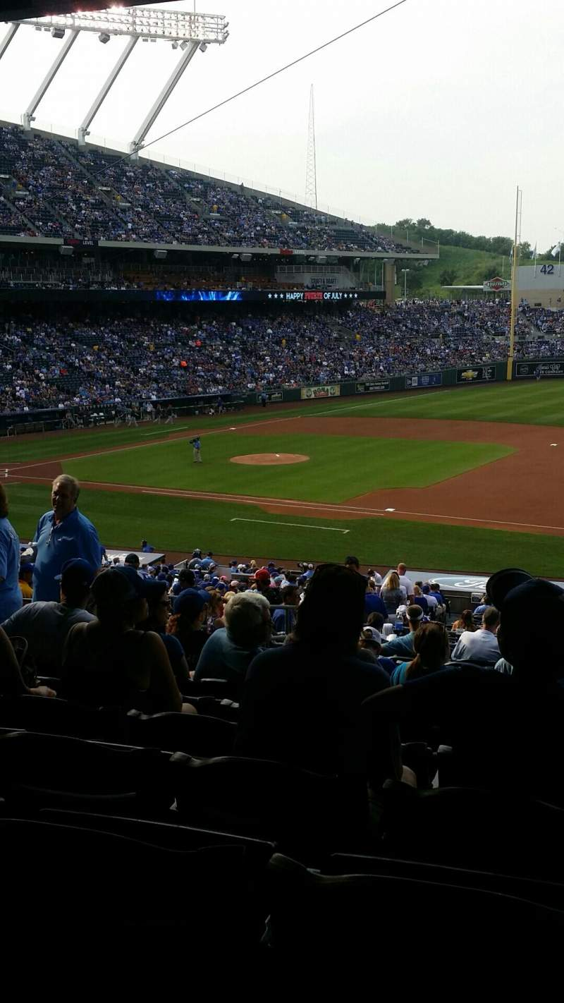 Seating view for Kauffman Stadium Section 238 Row NN Seat 7