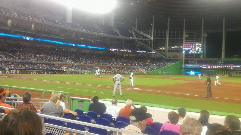 Seating view for Marlins Park Section 7 Row B Seat 13