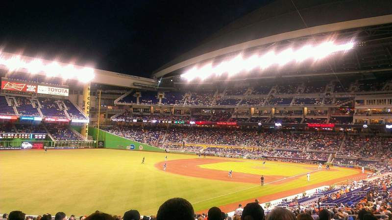 Seating view for Marlins Park Section 26 Row 23 Seat 16