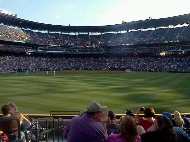 Seating view for Turner Field Section 121 Row 21 Seat 1