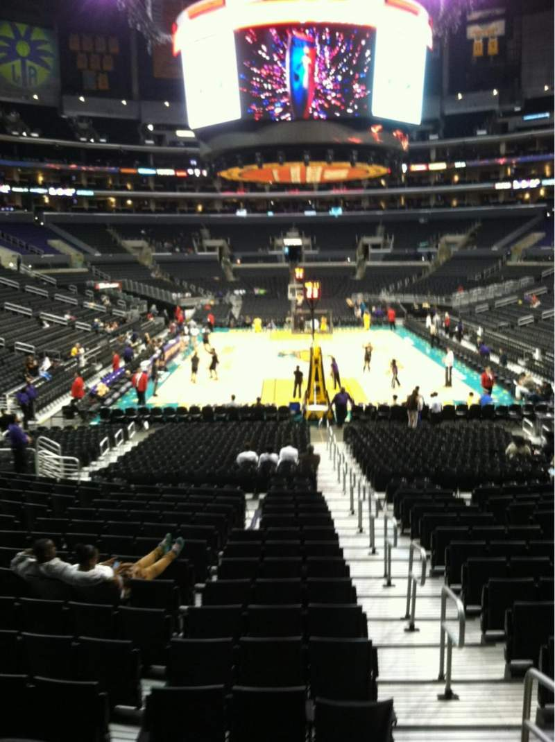 Seating view for Staples Center Section 116 Row 18 Seat 1