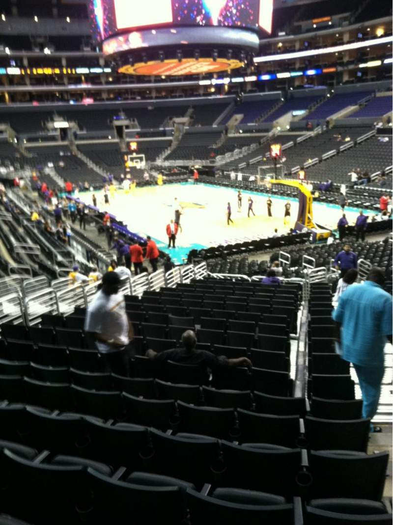 Seating view for Staples Center Section 118 Row 20 Seat 1