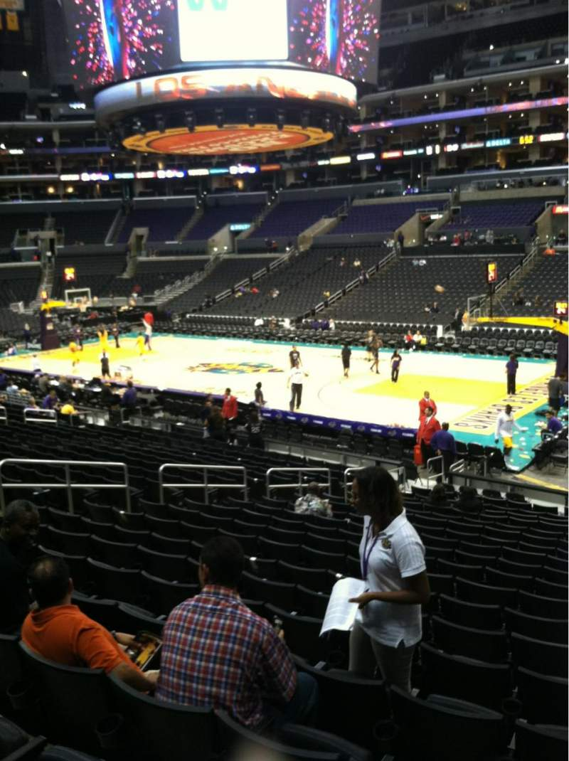 Seating view for Staples Center Section 118 Row 20