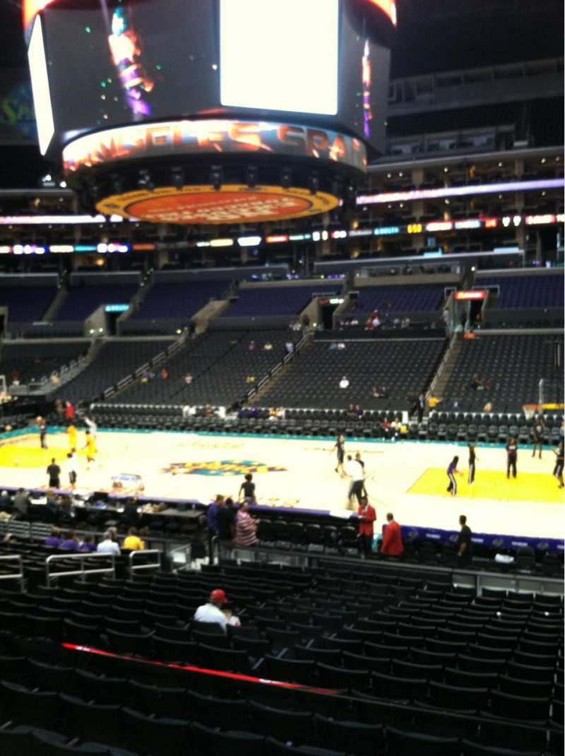 Seating view for Staples Center Section 119 Row 18w