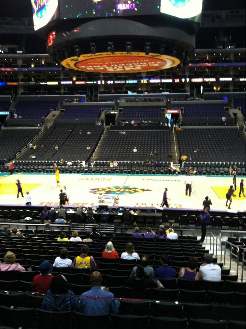 Seating view for Staples Center Section 101 Row 20
