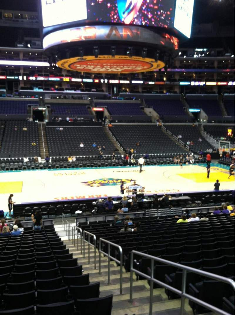 Seating view for Staples Center Section 102 Row 20