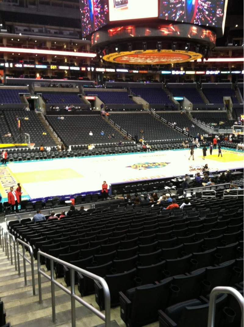 Seating view for Staples Center Section 103 Row 20
