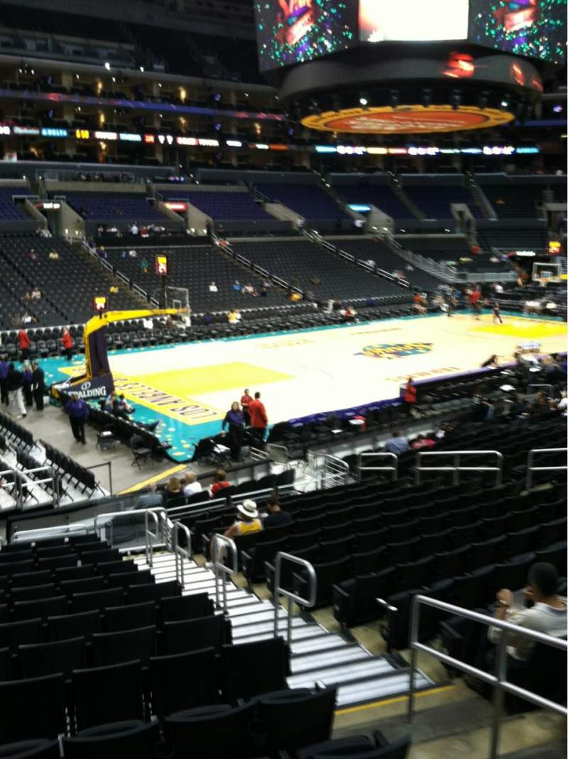 Seating view for Staples Center Section 104 Row 18