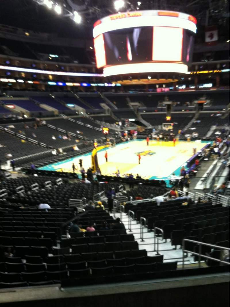 Seating view for Staples Center Section 206 Row 3