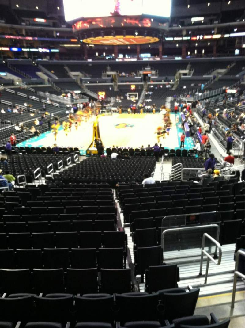 Seating view for Staples Center Section 106 Row 18 Seat 19