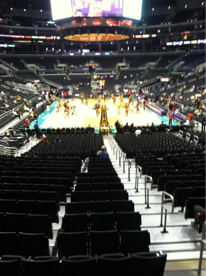 Seating view for Staples Center Section 107 Row 18 Seat 1