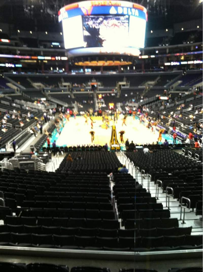 Seating view for Staples Center Section 208 Row 2
