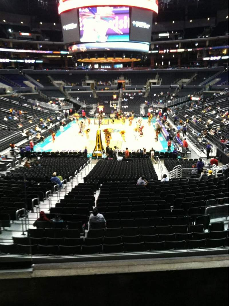 Seating view for Staples Center Section 207 Row 3 Seat 8