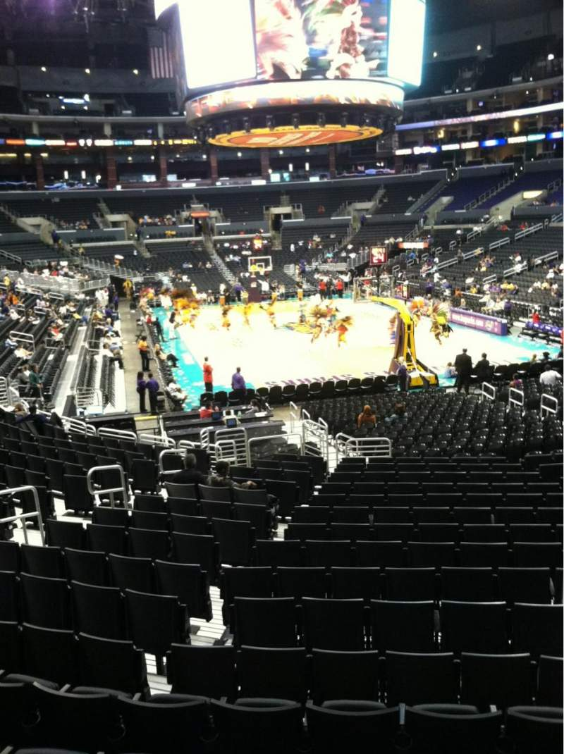 Seating view for Staples Center Section 107 Row 18 Seat 13