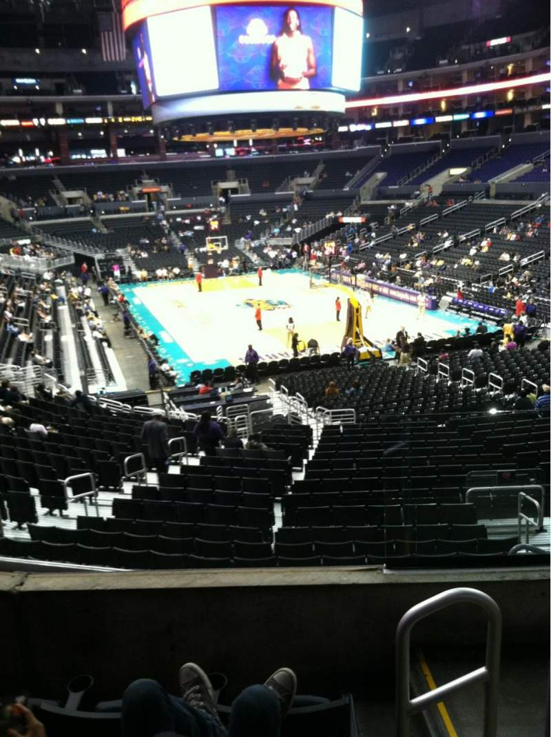 Seating view for Staples Center Section 209 Row 4 Seat 2