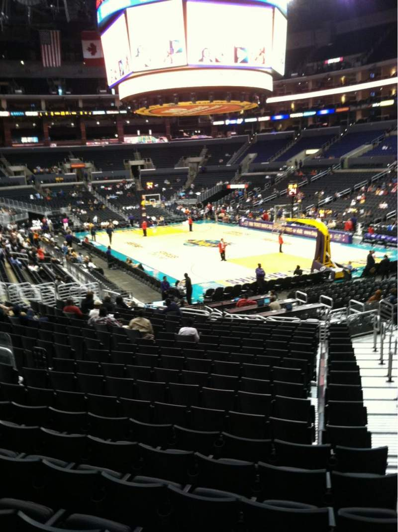 Seating view for Staples Center Section 108 Row 20 Seat 1