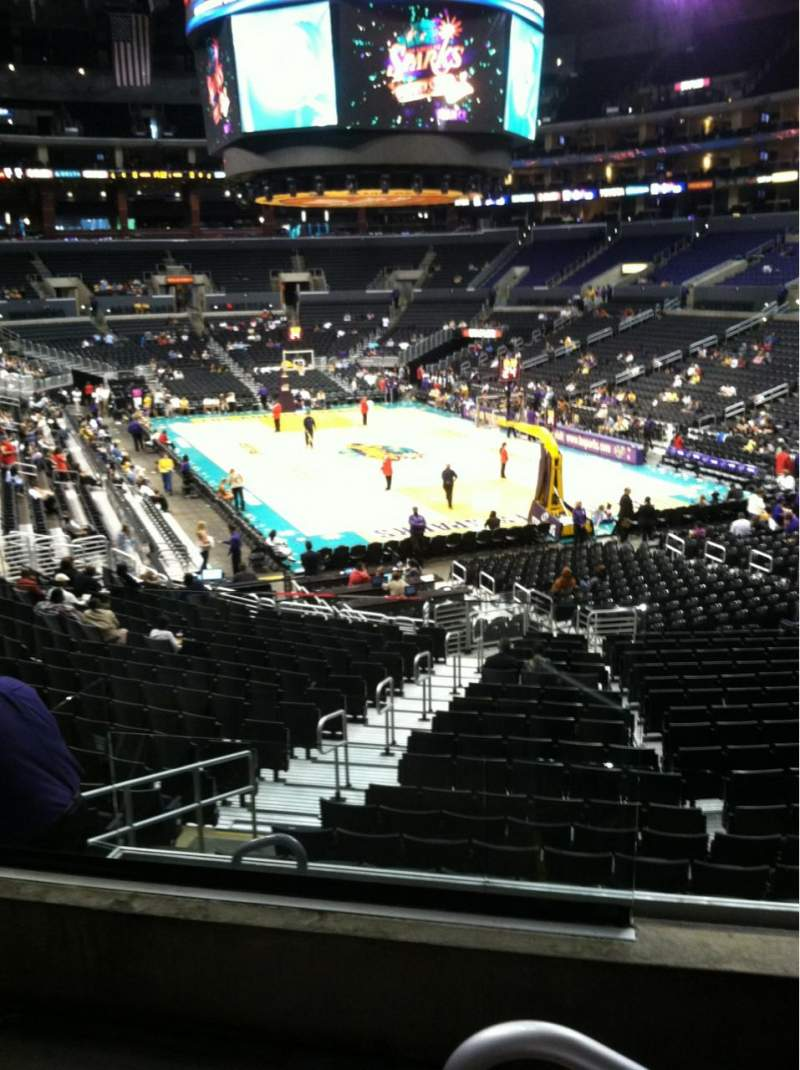 Seating view for Staples Center Section 209 Row 3 Seat 9