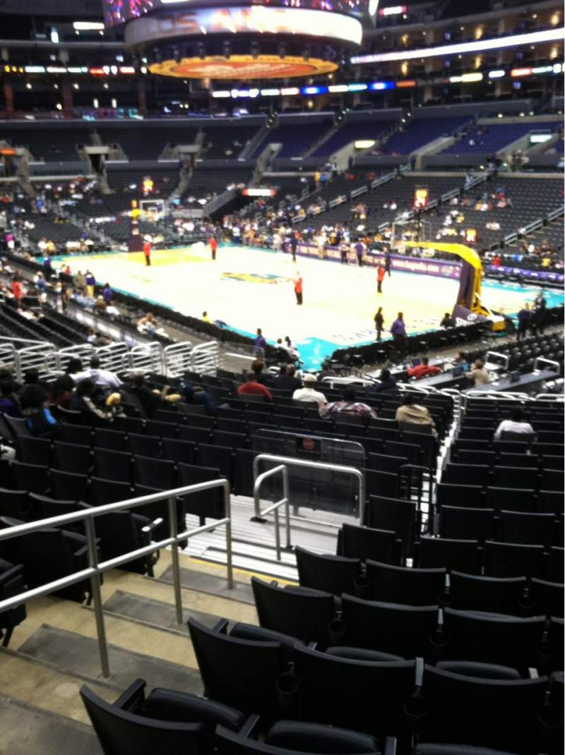 Seating view for Staples Center Section 108 Row 20 Seat 13